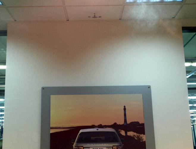 Распыляющие форсунки увлажнителя воздуха в офисе