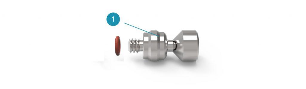 Комплект поставки поворотной основы форсунки Lens для системы Universe