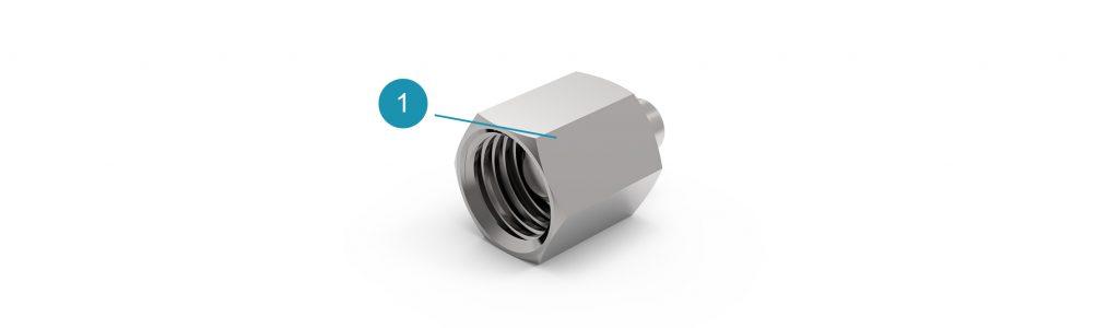 Заглушка коннектора с подключением DKOL для системы Universe