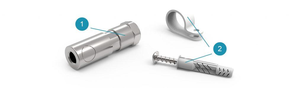 Комплект поставки коннектора глушащего Singular + с подключением QUICK для системы Universe