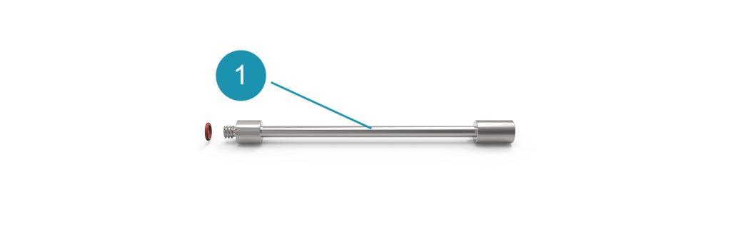 Комплект поставки гибкого удлинителя форсунки 10 см Tunnel 10 для системы Universe