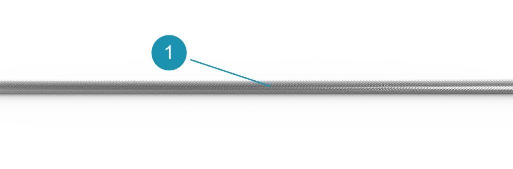 Композитная трубка Тефлон – нержавеющая сталь AISI304 длина индивидуальная, максимально 100 м, кратно 0,5 м