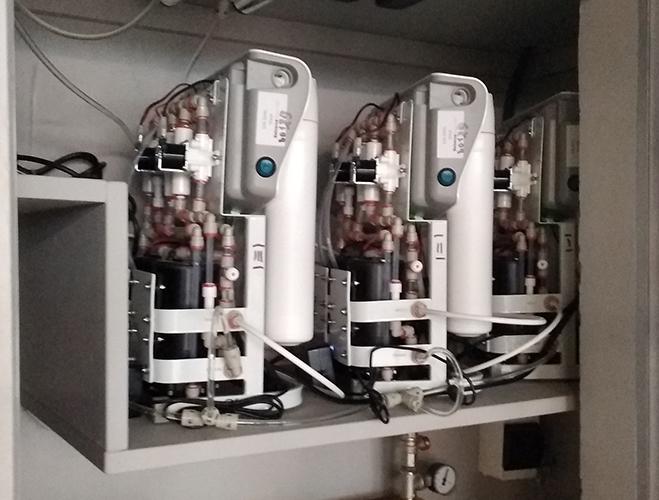 Фильтрующие блоки двойного обратного осмоса для системы увлажнения